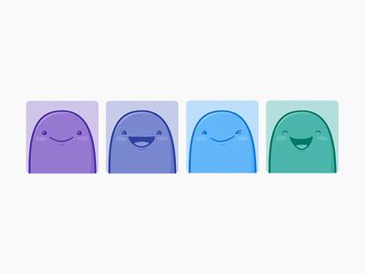Happy Avatar Dudes emoji monochrome happy avatars