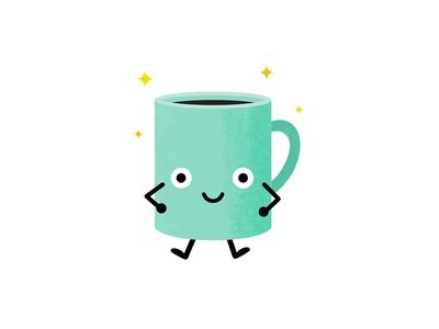 Cup o' Coffee affinity designer drink illustration doodle avatar character mug caffeine coffee
