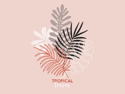 Tropical Leaves fern palm leaf leaf foliage exotic tropical leaves