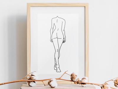 Figure woman illustration simple poster illustration walk figure body female woman
