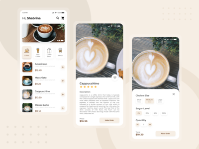 Coffee App Mobile coffeeshop coffee shop mobile app design mobile design mobile app mobile ui mobile ui  ux uidesign mock-up mock up mockup uiux ui design ui design
