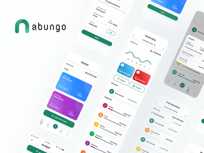 Personal Finance App (Nabungo) clean design clean ui financial app finance finance app illustration ui  ux uidesign mock-up mock up mockup uiux ui design ui design