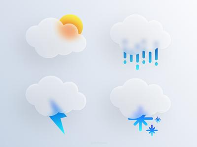 Weather ui design ui design