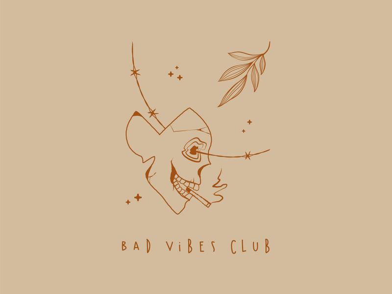 bad vibes forever sticker vector design illustration