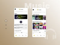 Online Music Application UI