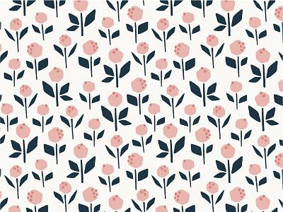 Blooming Pattern magazine indigo pink seamless pattern flowers cute leaves leaf wedding pattern fabric branding flower floral botanical vector logos logo illustration design