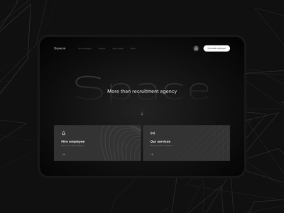 Main page for recruitment agency servece ux ui design web webdesign agency bot hr recruitment