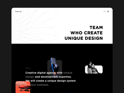 Webland design - TEAM WHO CREATE UNIQ DESIGN cases developers digital team studio space pattern form menu projects service agency design ux ui