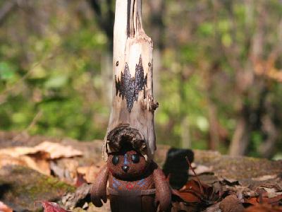 Yoka the Forest Gaurdian hope change resolution tribal spiritual glow toy art toy character design fuzzy bear
