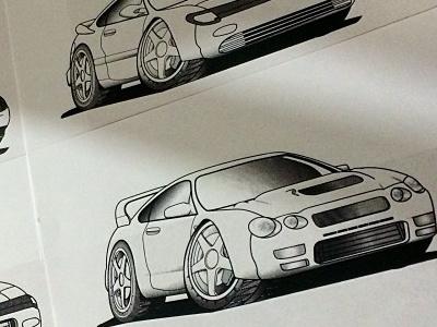 Spirit of Rally tshirts car drawing illustration cartoon screenprinting textile