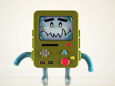 Nori X BMO art toy character design paper craft toy expressions kaiju