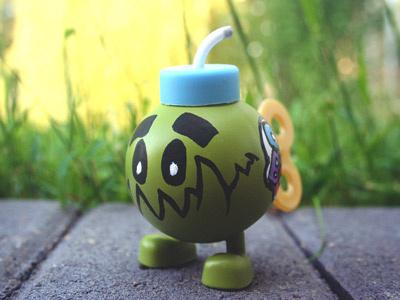 Nori X Bob-omb art toy toy kaiju character design