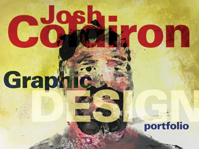 Portfolio Cover monotype beard type color loose abstract printmaking
