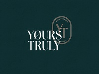Yours Truly Prints print green mark web design logo branding