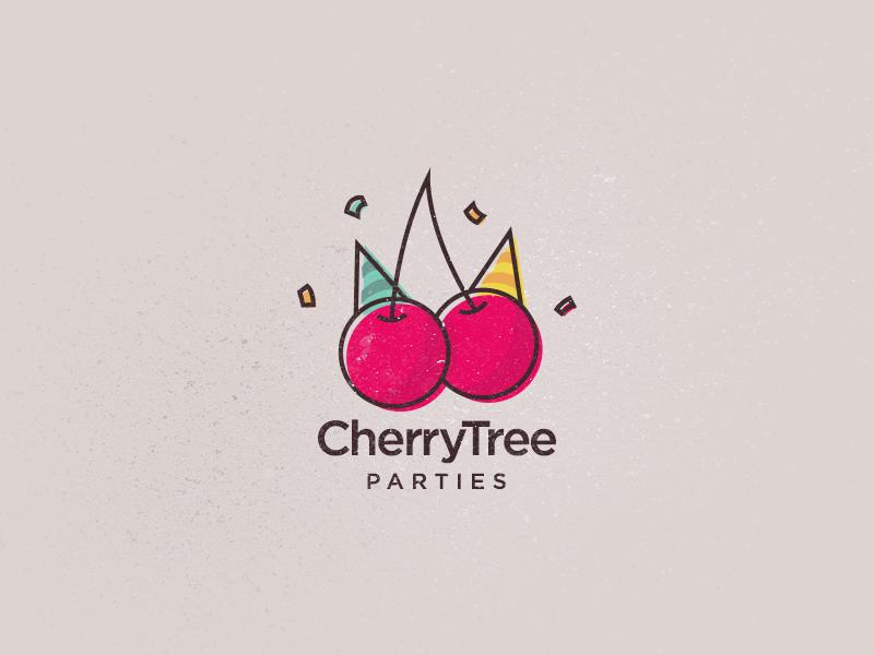 Cherry logo cherry tree party parties