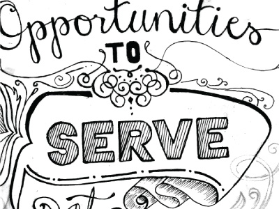 Serve type pen illustration