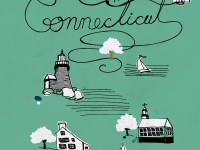 Connecticut connecticut illustration lighthouse
