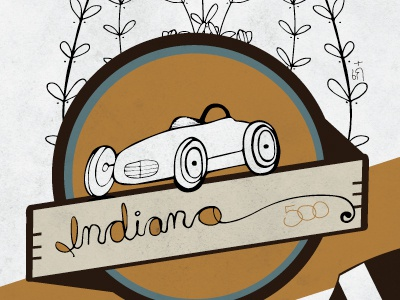 Indiana indiana yellow car 5050 project illustration
