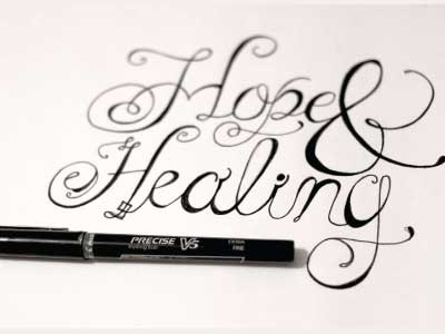 Hopeandhealing text hope pen