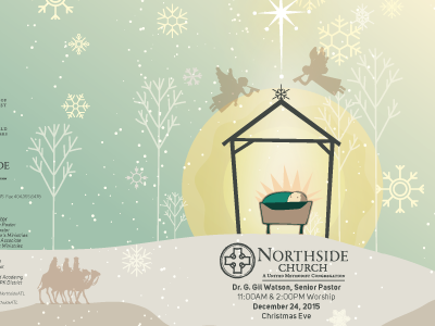 Children's bulletin cover northside church illustration christmas