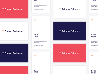 Primary Software Business Cards
