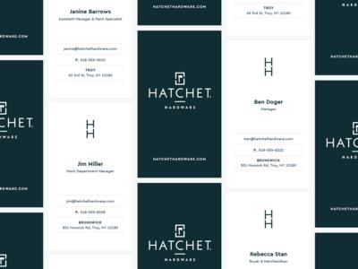 Hatchet Hardware Business Cards