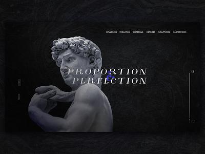 History 01 statue art museum history ui ux typography web design