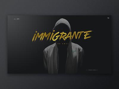 Immigrante Rap mexico album music art music rap retouch web design typography