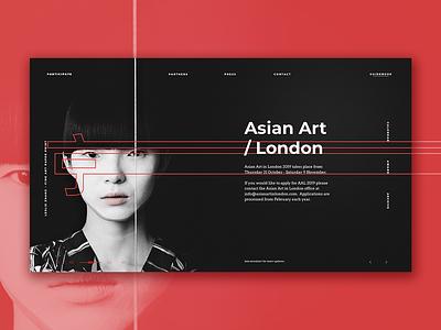 AAL Redesign typography art asian ux ui web design
