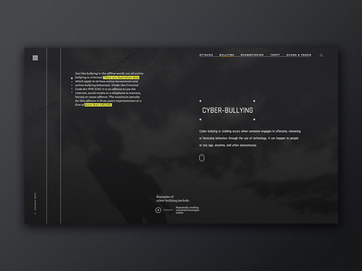 Cyber Bullying goverment web design ui ux typography