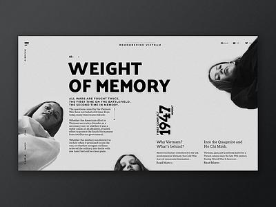 Vietnam War goverment design museum ui ux web design typography history