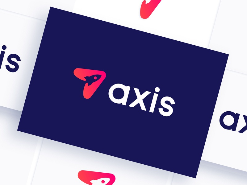 Axis Logo gradient dailylogochallenge lettering website web minimal typography app illustration logo icon flat ui graphic adobe illustrator ux branding vector design graphic design