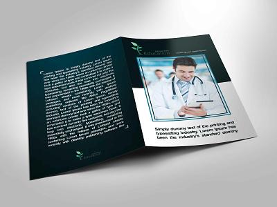 Medical Bi-Fold Brochure design magazine marketing campaign half-fold brochure illustration graphic  design card design branding flyer artwork brochure design
