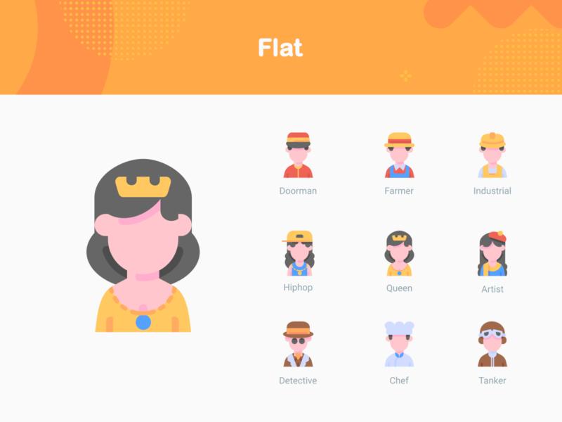 Avatars - flat style flat indonesia icon icon app gorontalo illustration iconfinder iconography avatars ui bukeicon iconsets iconset