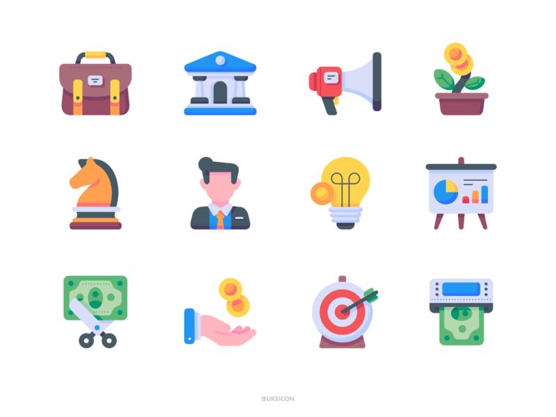 Business and finance - Bukeicon 1.0 Collection illustration iconset icons webdesign iconography icon app gorontalo ui icon bukeicon