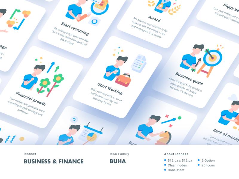 Business and finance iconset - Buha Collection icon app ui illustration iconography indonesia imambuke bukeicon iconsets best icons icondesign icon icon grid guide icon iconset best icon design best icon