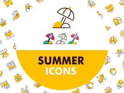 Summer icons vol1 - by bukeicon app userinterface icon app iconography gorontalo webdesigner mobile ui mobile app webdesign ui iconscout iconfinder icon beach icondesigner bukeicon summertime holiday icons summer