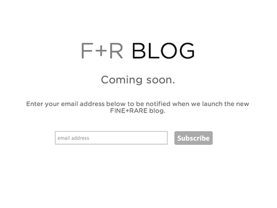 F+R Blog: Coming Soon web blog mailchimp gotham rounded
