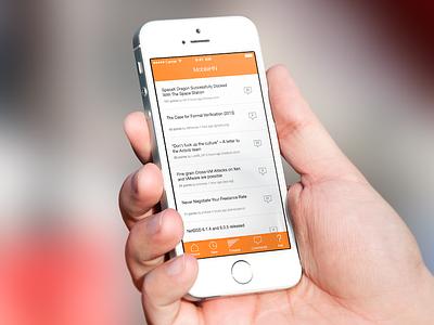 MobileHN ios ios 7 hacker news app
