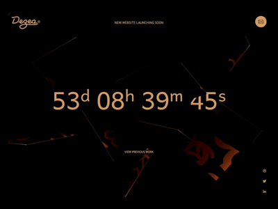 Dezea® - Countdown page (Video) reflections mirrors interactive interactive video magnetic smooth gsap greensock threejs 3d web design agency countdown transition animated animation design design website web dark app dark theme