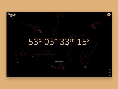Dezea® - Countdown page webdesignagency countdown timer sweden design studio digital design 3d animation reactjs threejs animation app clean minimal website web design mirrors black dark dark design dark theme
