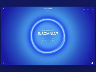 InnerVoice Project - Sneak Peek circles orb blue and white interactive design animation vector clean gsap 3d animation ux ui website web design