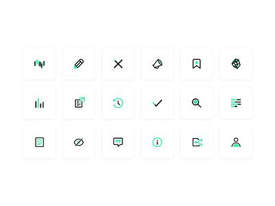 Iris.ai - Icon set flat icons design icons illustrator design artificial intelligence iconography icon set ui illustration icon branding website clean web app vector design