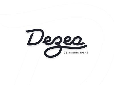 Dezea - Logo redesign black and white calligraphy logo logotype design type flat typography illustration vector clean design logo