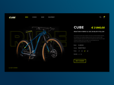 Product Page - Cube Bicycle