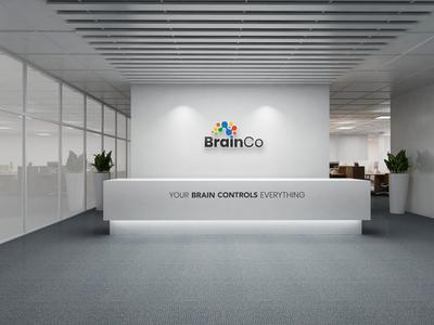 BrainCo reception desk design