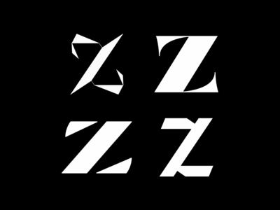 Letter Z serif daily lettering bold high contrast handdrawntype typeface type design vector 3d lettering 3d type 3d typography typography handlettering type lettering artist custom type custom lettering lettering 36daysoftype letter z
