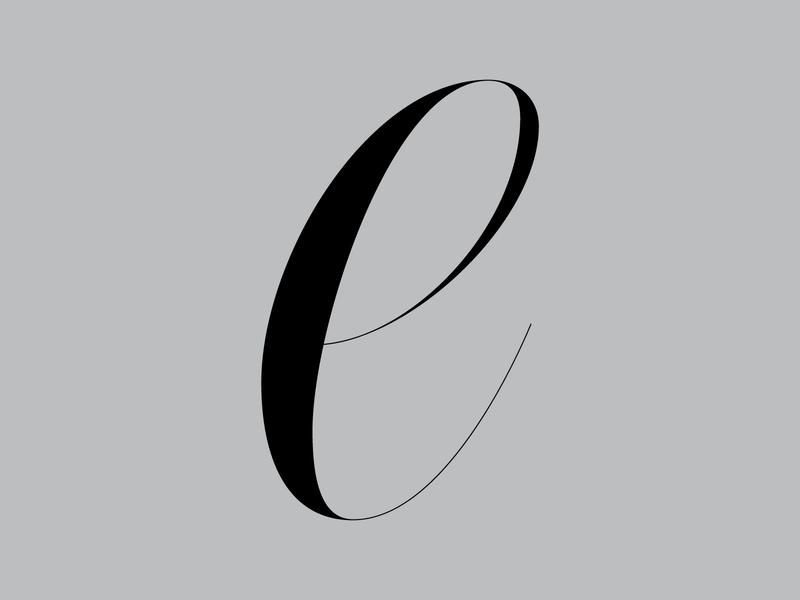 E — 36daysoftype letter e daily lettering daily render design fancy lettering lettering artist graphic design type design 36daysoftype custom type typography handlettering custom lettering lettering high contrast fancy copperplate spencerian formal flourish
