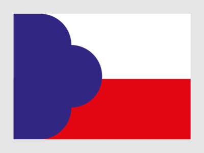 100 Years of Czechoslovak Independence 3/3 poster independence anniversary slovakia czechia czech republic czech flag design czechoslovakia flag vector illustration