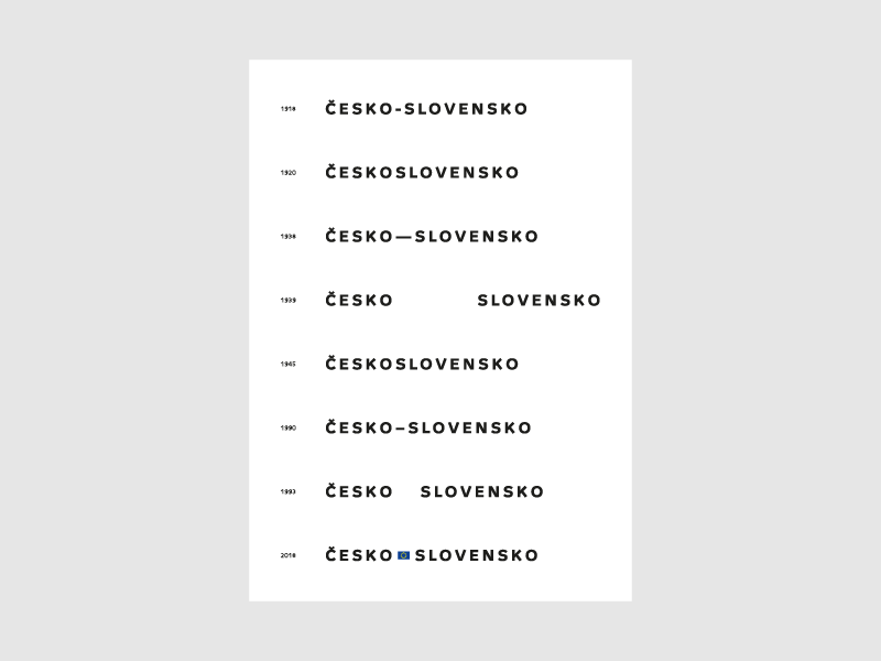 100 Years of Czechoslovak Independence 2/3 poster typography vector independence slovakia czech republic czechoslovakia czechia czech anniversary